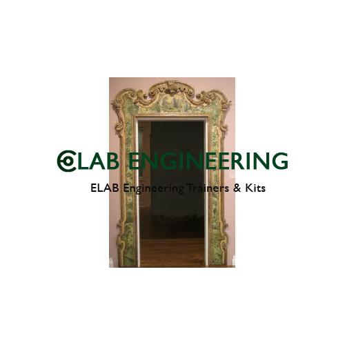 Model of Venetalned Door With Surrounding Frame