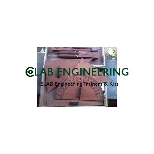 Geometrical Instrument Box Wooden