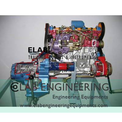 Sectional Working Model Of 4 Strokes Diesel Engine