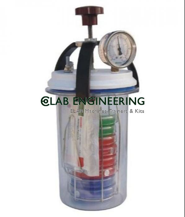 Anaerobic Culture Jar 3.5 Lit. (With vaccum cum pressure gauge)