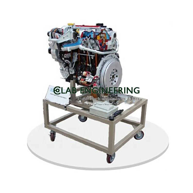 Cut sectional model of four stroke single Cylinder engine assembly
