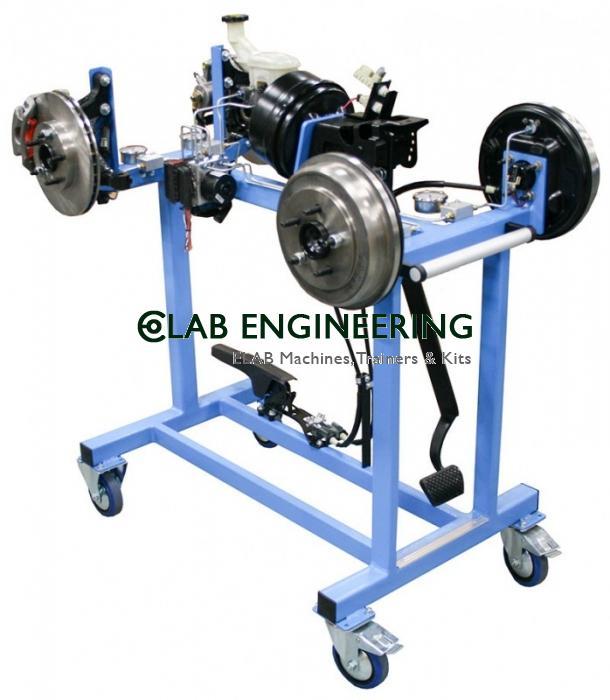 Cut Section Model Of Drum Brake Unit (Hydraulic Working)