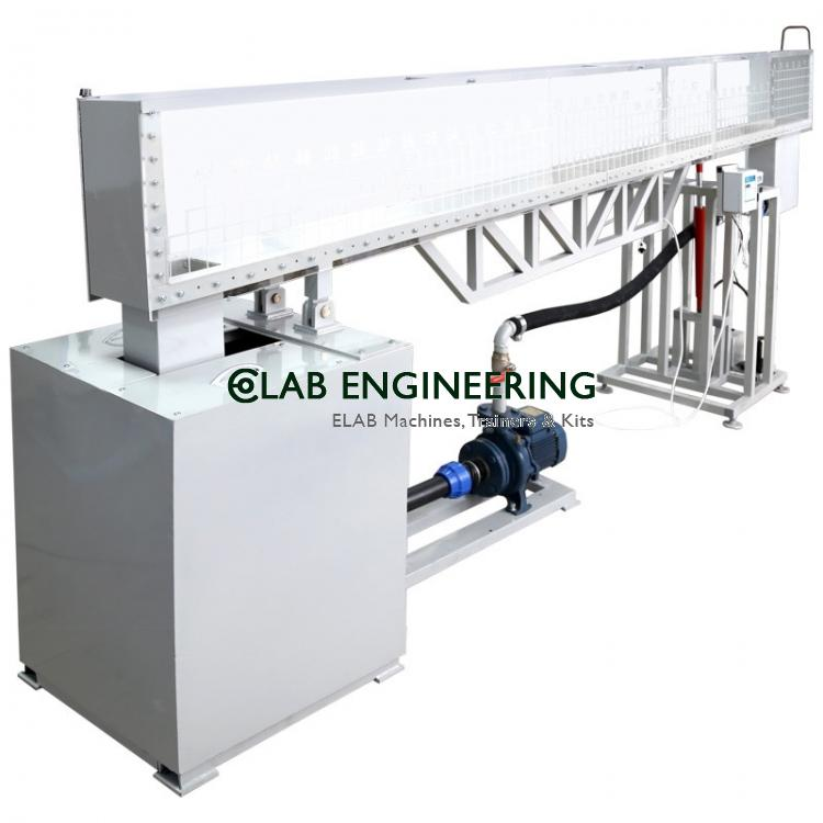 Open channel (hydraulic flume) -4M long (A.C motor)
