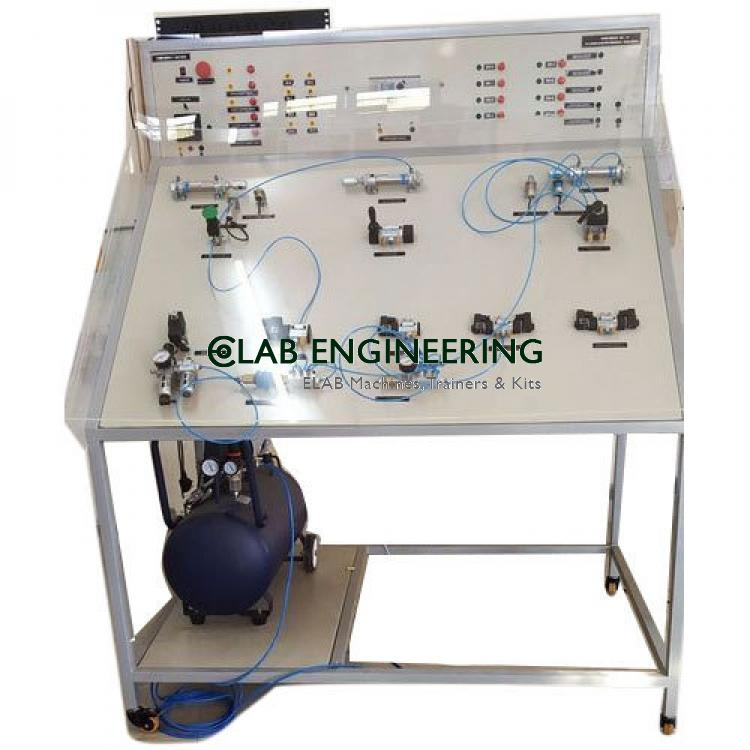 PLC Control Pneumatic Trainer (single board) AUTOMATION MACHINES LAB