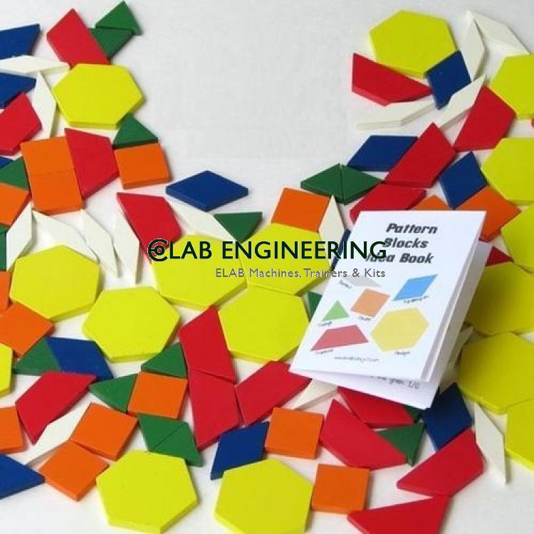 Pattern Block Math Puzzle Kit