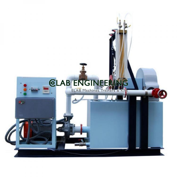 Pelton wheel turbine test rig capacity 1HP (A.C motor)
