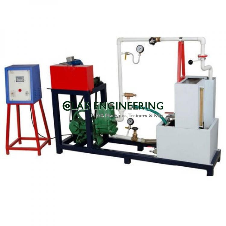 Reciprocating single stage pump test rig (A.C motor)