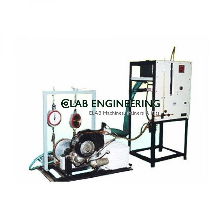 SINGLE CYLINDER TWO STROKE PETROL ENGINE WITH ROPE BRAKE DYNAMOMETER