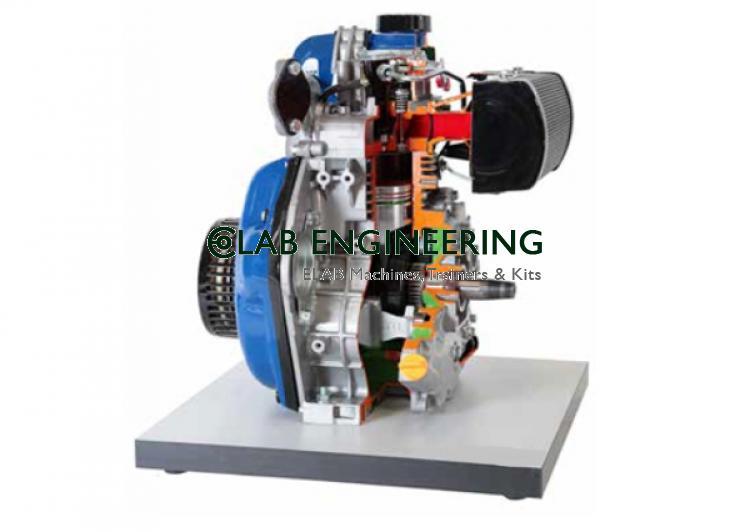 Sectional Working Model Of 2 Stroke Diesel Engine