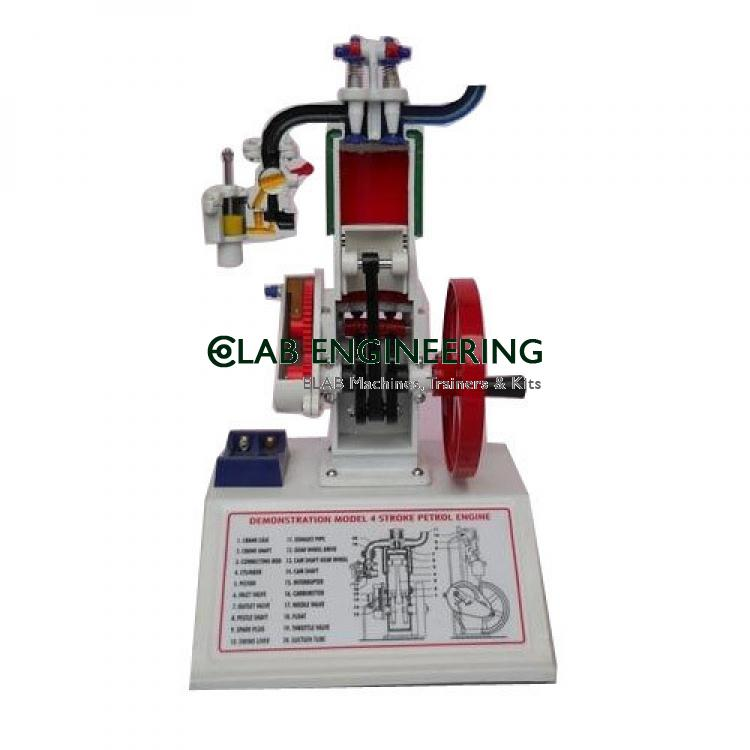 Sectional Working Model Of 4 Strokes Petrol Engine