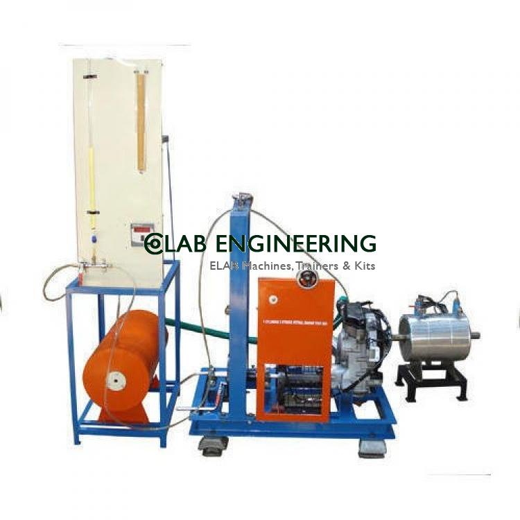 Single Cylinder Two Stroke Petrol Engine Test Rig - IC Engine Lab