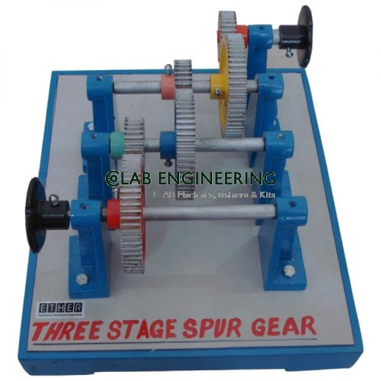 Three stage spur Gears