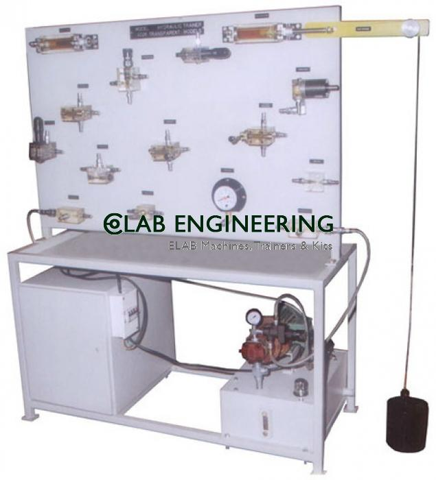 Transparent Hydraulic System Integration Trainer AUTOMATION MACHINES LAB