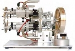 4 stroke 4 cylinder Petrol Engine (hand driven)