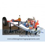 Actual Cut Section Car Chassis 4 stroke 4 cylinder Petrol Engine: