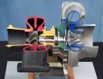 Cutaway Model Multistage Gear Combination